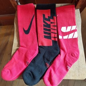 3pair New NIKE elite dri-fit cushion crew socks